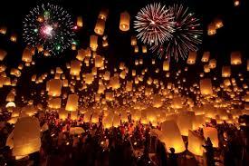 lanterns fireworks glow festival