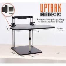 Convert Sitting Desk To Standing Desk by The Uptrak Standing Desk Sit Stand Desk For Your Cube Stand