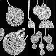 Globe Crystal Pendant Chandelier Lighting Fixture  Montreal - Contemporary crystal dining room chandeliers