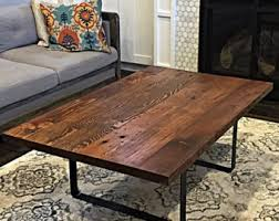 Wooden Coffee Table Salvaged Table Legs Etsy