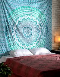 Tapestry On Bedroom Wall Amazon Com Turquoise Hippy Boho Tapestry Hippie Bohemian Wall