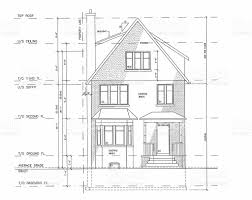 a black and white blueprint for a home stock vector art 173019802