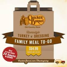 let cracker barrel country store handle thanksgiving dinner