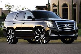 cadillac escalade black rims lexani lust wheels black with machined face rims
