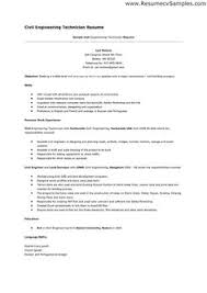 sample engineering technician resume plc resume objective