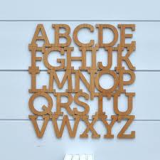 alphabet wooden wall hanging kids abc baby nursery theme wall