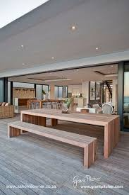 modern outdoor dining table 342 best outdoor chic images on pinterest floral arrangements