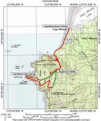 map of oregon lighthouses cape meares hike hiking in portland oregon and washington