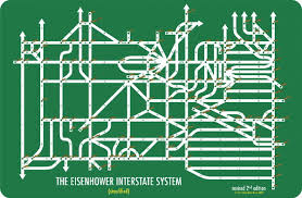 map us interstate system information design at penn