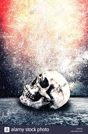 halloween photo background horror skull scary background for halloween concept and movie