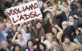 protesta per l'ADSL