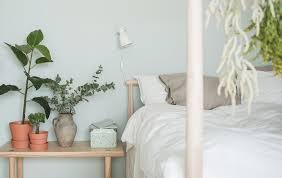 bedroom white matresses brown wood platform bed brown nightstand