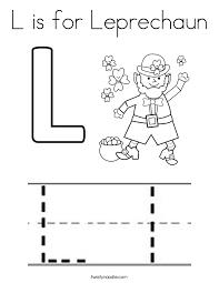 l is for leprechaun coloring page twisty noodle