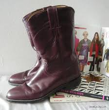womens boots size 9 5 narrow goodeye womens boots vintage justin roper boots waxed leather