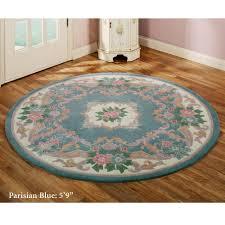 serena aubusson round rugs