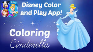 disney color and play app coloring disney princess cinderella