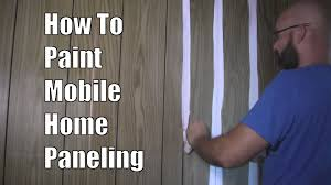 Painting Wall Paneling How To Paint Mobile Home Paneling Youtube