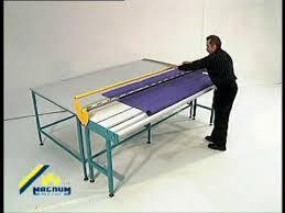 Cutting Blinds Sani Usa Com Roller Shade Fabric Cutting Table Manual Operation