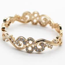 aliexpress buy anniversary 18k white gold filled 4 shine imitation diamonds aaa zircon charm woman bracelet chagne