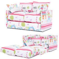 paris city print children u0027s bedroom sofa bed fold out futon guest