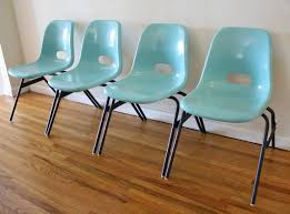 mid century modern fiberglass stacking chair set picked vintage