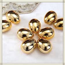 egg ornaments creative gifts golden egg ornaments home decorations gilded
