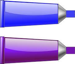 clipart color tube blue purple