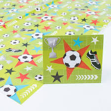 football wrapping paper football wrapping paper gift tag only 59p