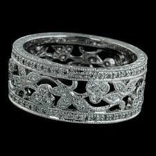 filigree wedding band beverley k jewelry 18kt white gold filigree diamond wedding band