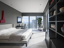 Apartment Bedroom Ideas White Walls Small Modern Apartment Decorating White Grey Colors Pillows Wall