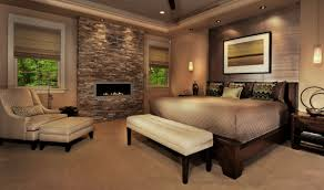 bedroom rustic structure stone fireplace in bedroom decor with