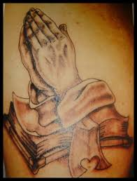 praying hands bible tattoo picture