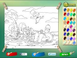 simpsons coloring pages kids simpsons coloring pages