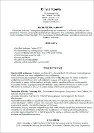 sample resume for software testing best resume example