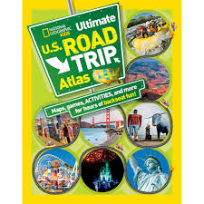 United States Road Trip Map by National Geographic Kids Ultimate U S Road Trip Atlas National