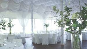 Wedding Aisle Decorations Bad Windy Weather At The Time Of The Wedding Ceremony White Wooden