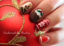 fundamentally flawless christmas nail art candy cane tree