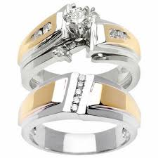 his and hers wedding sets wedding rings sets for women and men rikof