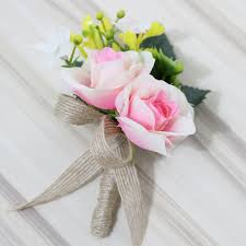boutonniere flower pink artificial flower buttonholes groom boutonniere best
