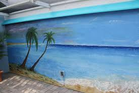 tropical beach scene murals by dale werner dale werner com this