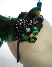 peacock headband feather headband tiaras bridal wedding accessories hats