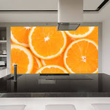 orange slice wall mural food u0026 drink photo wallpaper kitchen cafe