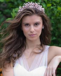 bridal tiara pearl rhinestone tiara shop wedding headpieces dareth colburn