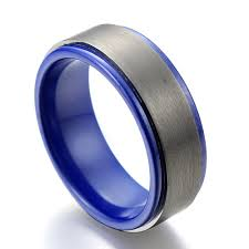 mens blue wedding bands wedding rings mens blue wedding rings combine with silver