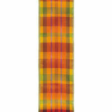 plaid ribbon ribbon express wired edge fall plaid ribbon lion ribbon