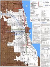 Chicago Attractions Map Chicago U0027 U0027l U0027 U0027 Org System Maps Route Maps