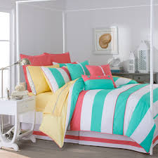 Striped Canopy by Bedroom Exciting Cute Bedspreads With Decorative Pillows And