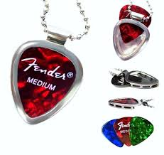 stainless steel guitar necklace images Guitar pick holder pendant stainless steel necklace set pickbay jpg