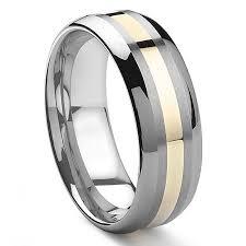 tungsten rings gold images Filoe 8mm tungsten carbide 14k gold inlay wedding band jpg