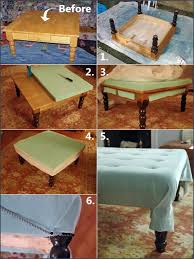 How To Make An Ottoman From A Coffee Table An Ottoman Out Of A Coffee Table This Would Be So
